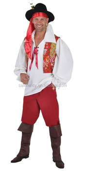 Gypsy Party Men Male Halloween Man Cosplay Costume QAMC 8813