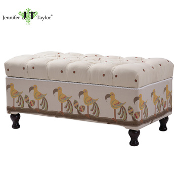Modern Bedroom/ Dressing Room Upholstery Fabric Storage Ottoman Bench From  Jennifer Taylor - Buy Bench,Ottoman Bench,Storage Ottoman Bench Product on  ...