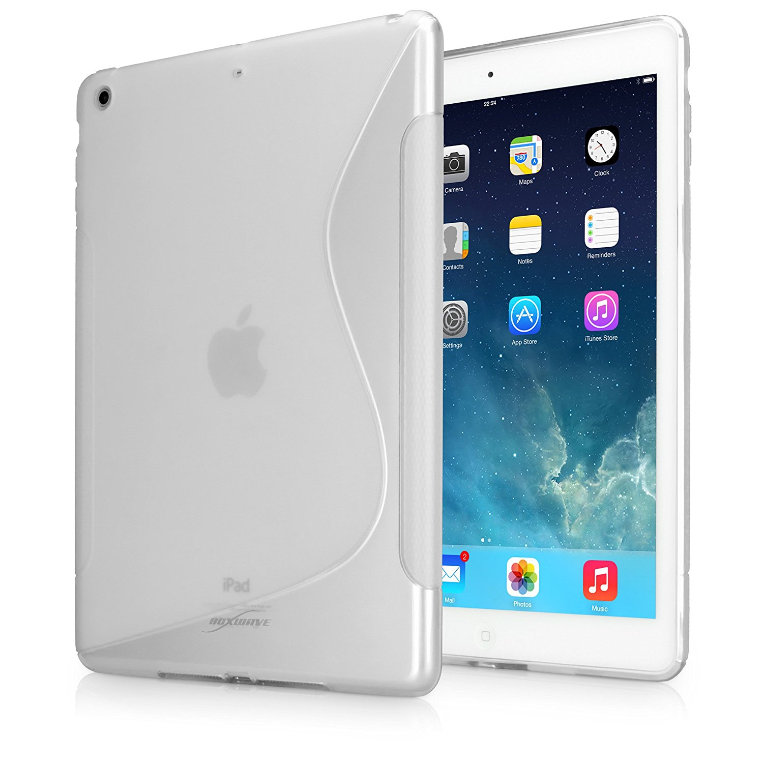 iPad Air Case, BoxWave® [DuoSuit] Ultra Durable TPU Case w/ Shock Absorbing Corners for Apple iPad Air - Frosted Clear