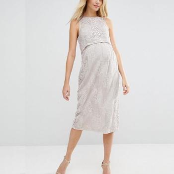 741dc6c69017 Maternity Womens Pregnancy Clothes Lace Maxi Split Dresses - Buy ...