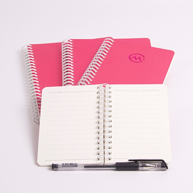 Wholesale customizable softcover spiral mini student notebook note book with embossing logo