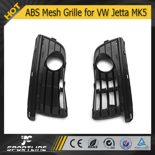 JC Auto Parts (one pair) ABS Fog Lights Grille for VW Jetta MK5 2006 2007 2008 2009