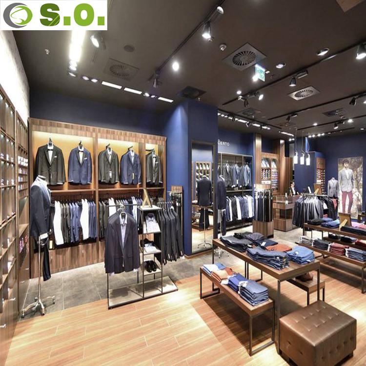 20577a16f أحدث مصنع الملابس متجر متجر ملابس رجالية تصميم الديكور-واجهة عرض ...