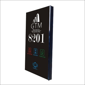 Hot-sell Smart Hotel OEM Name Logo DND MUR Door Number Plates