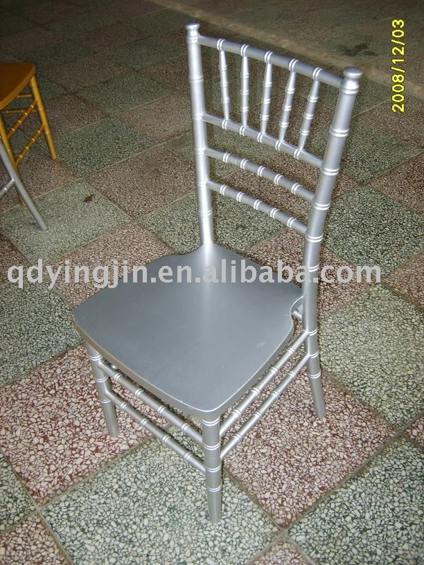 Wood Silver Tiffany chair