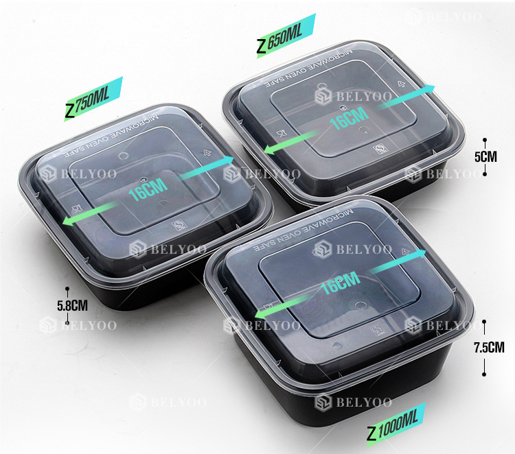 Disposable Plastic Food CPET PVC Takeaway Tray For Airline