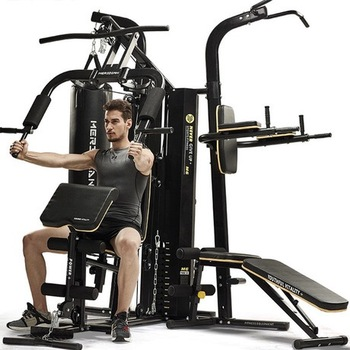 Volle körper übung multi station home gym 3 station multi gym fitness maschine ausrüstung