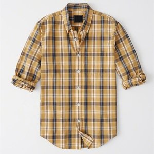 Plaid Men Slim Fit Fashion Custom Button Down Shirt Readymade Garments
