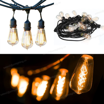 Superior Quality Christmas Lights Outdoor Weatherproof Commercial Grade Edison incandescent vintage String Light