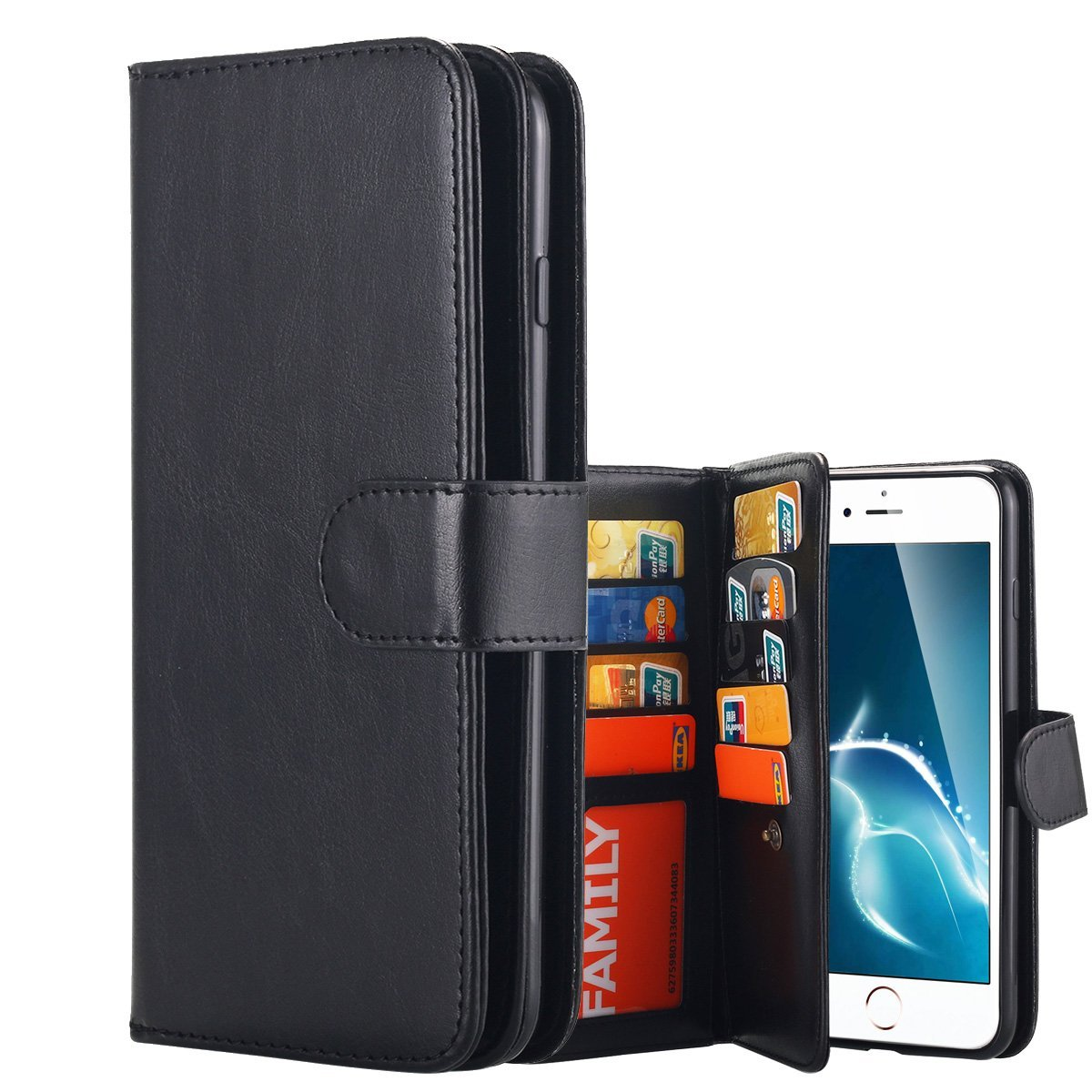 9 card wallet case iphone 7 plus