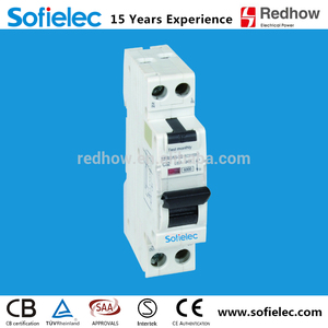 Electronic Type Protector 1P + N 6kA 32A RCBO Circuit Breaker