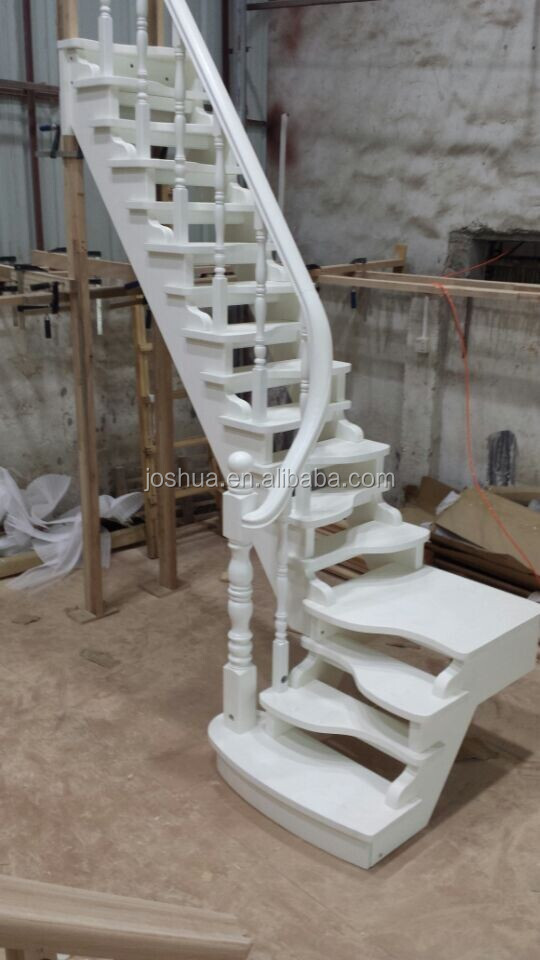 duplex building wood staircases