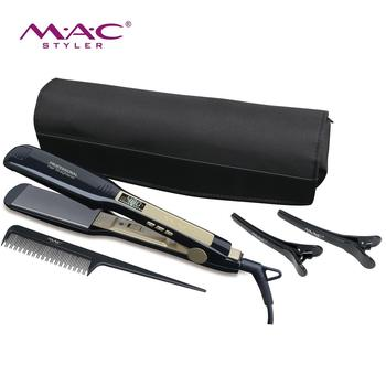Professional hair iron best quality hair straightener negative ion LCD display wide plate 450F hair straight