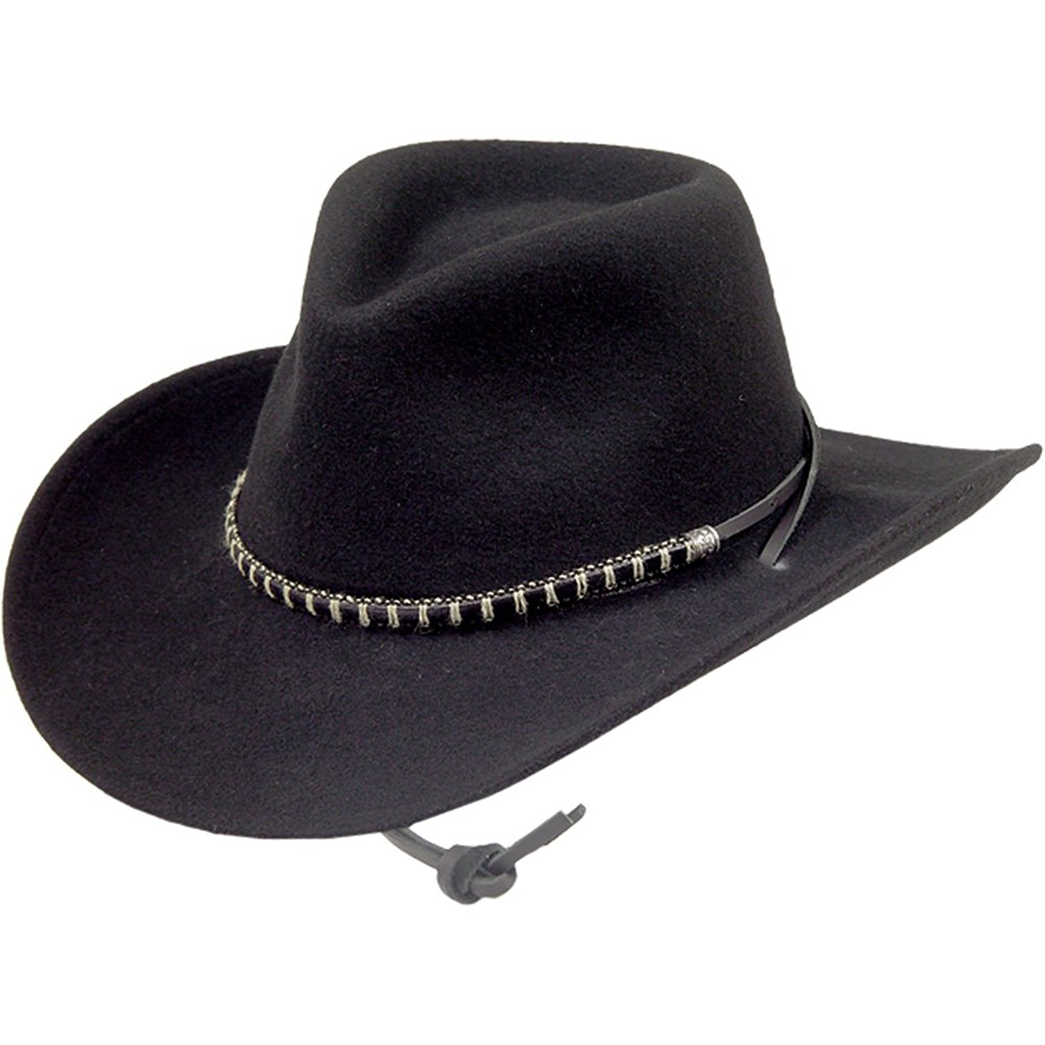 6c5d10a69b4 Get Quotations · Stetson Black Foot Crushable Hat