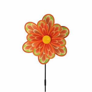 multicolor polyester sunflower mini garden windmill