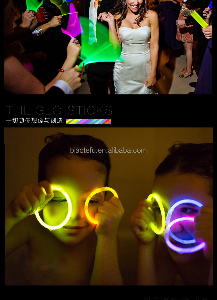 chemical liquids disposable glow stick for party