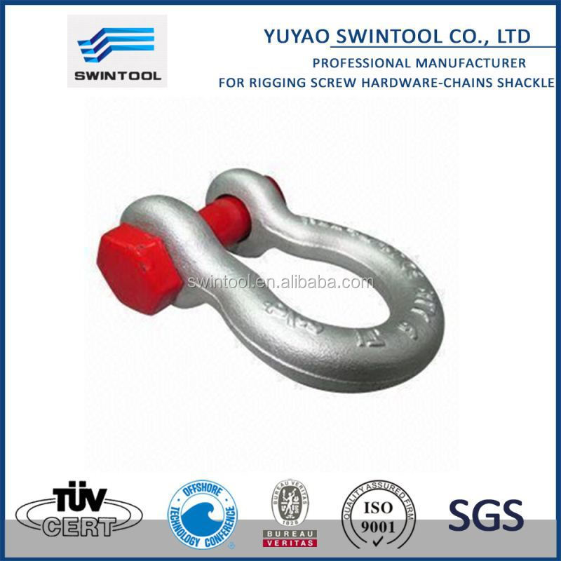 "SGS certificated 1/2"" bow steel shackle"