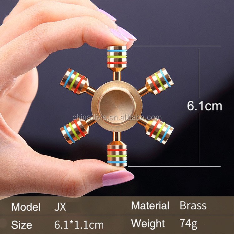 Wholesale colorful hand spinner metal game art plug metal wind chimes hand spinner