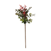 Artificial Eucalyptus Leaves Stems Bulk Artificial Seeded Eucalyptus Leaves Plant in Grey Green Tall Artificial Greenery Holiday