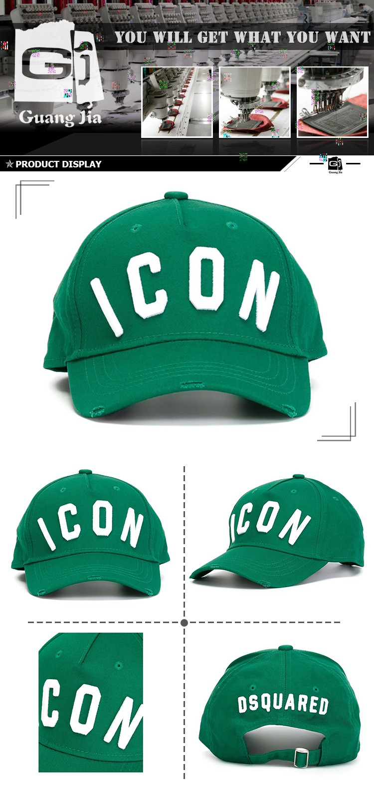 Guangzhou Cap Factory Wholesale Custom Design Your Own Logo Distressed  Baseball Cap Curved Bill Snapback 970c84556e0