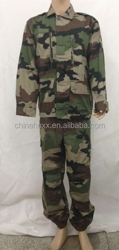 Durable army camouflage uniform, ripstop/ twill military uniform