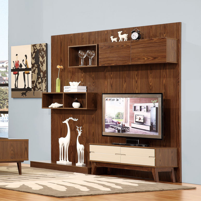 Modern Furniture Design Wooden Tv Wall Units