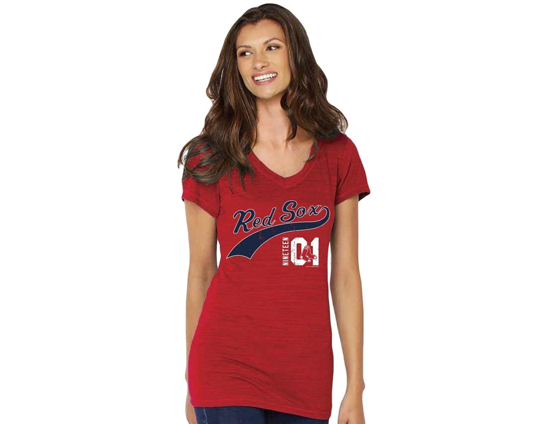 7691179ab Get Quotations · MLB Boston Red Sox Women s V-Neck Polo Shirt