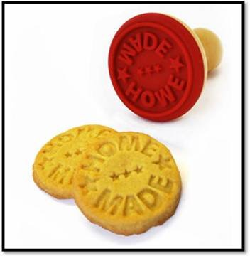 ,cookie stamp Type and WOODEN,wooden,Silicone Material Silicone stamp with wood handle for patisserie