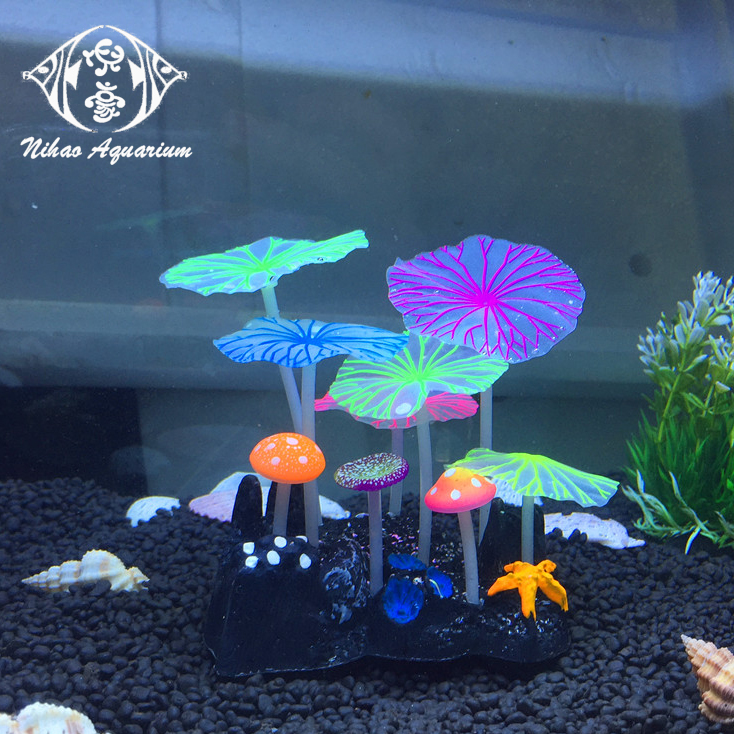 Artificial Silicon Coral Unique Fish Tank Accessories Glowing Aquarium Decoration