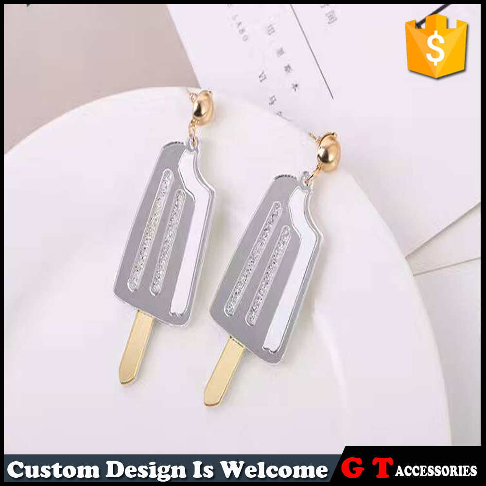 wholesale women acrylic earrings, personalized ice cream earrings