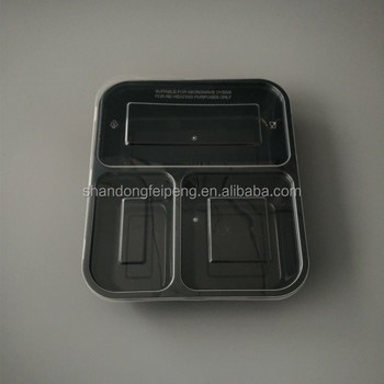3 Compartments Buy Plastic Disposable Hot Food Catering Restaurant
