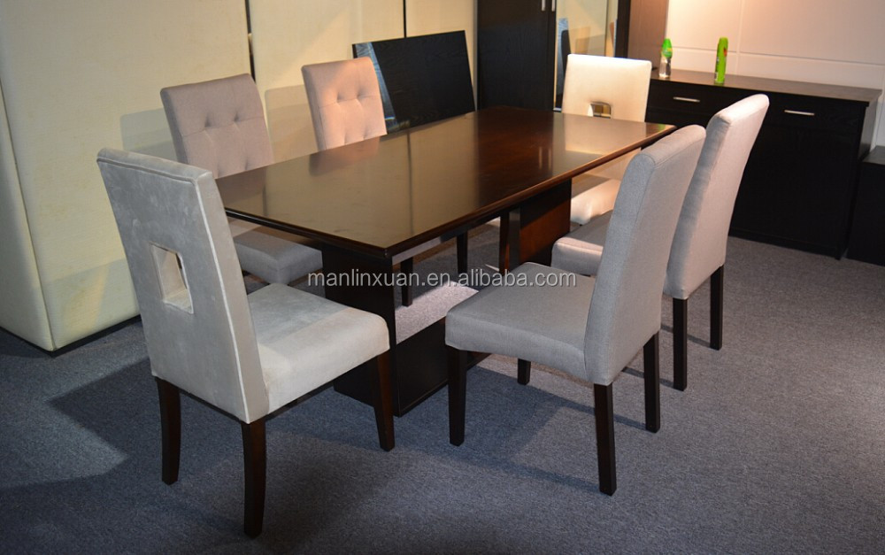 American Style Wooden Rectangular 6 Seater Dining Table And Chair Set Designs In Wood Home