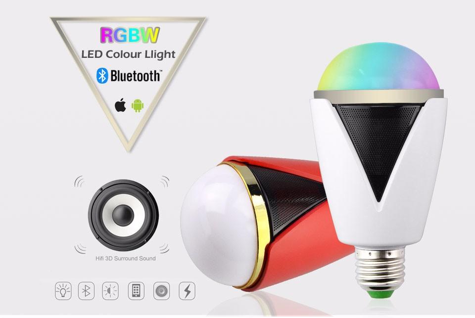 rot 5w e27 rgbw gl hlampe bluetooth app led lampe bulb mit lautsprecher speaker ebay. Black Bedroom Furniture Sets. Home Design Ideas