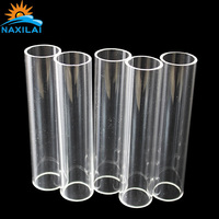 "Naxilai PMMA Extrusion Pipe Acrylic Tubes of Different Size 6"" clear cast solid acrylic candy dispenser led tube bending"