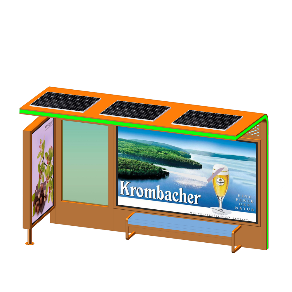 product-YEROO-2020 Customized Advertising Bus Stop Solar Energy Bus Shelter-img-4