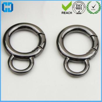 Hot Sale Spring Ring Clasp Round Split Gate Ring For Handbag - Buy Round  Spring Gate Ring,Spring Ring Clasp Gate Ring,Spring Ring Split Gate Ring
