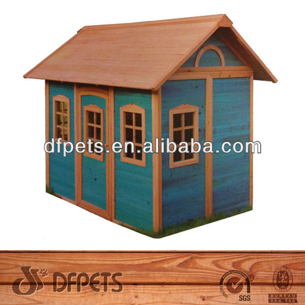 Wooden Playhouse With Slide DFP022