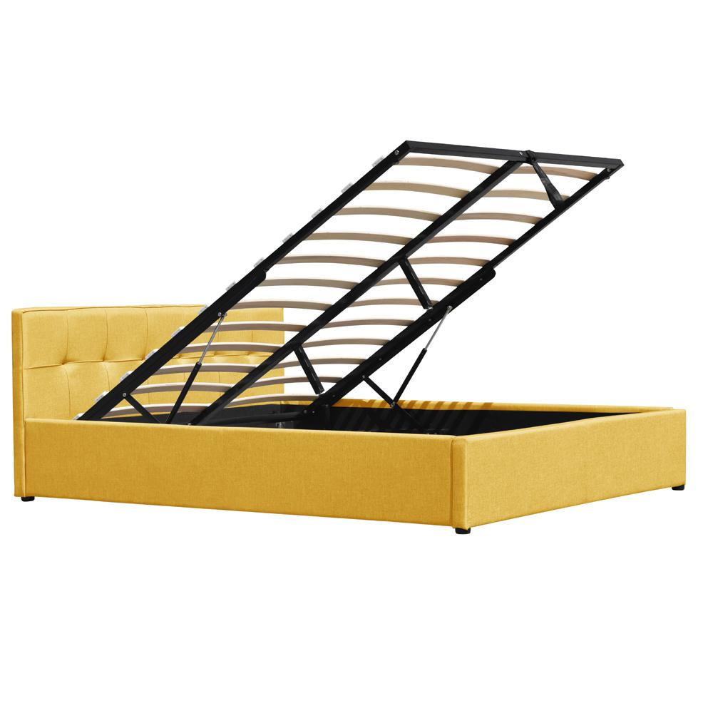 शीर्ष गुणवत्ता आधुनिक बेडरूम फर्नीचर कपड़े सनी लकड़ी भंडारण बिस्तर