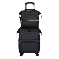 Multifunctional 2 in 1suitcase set famous brand luggage lightweight suitcase set
