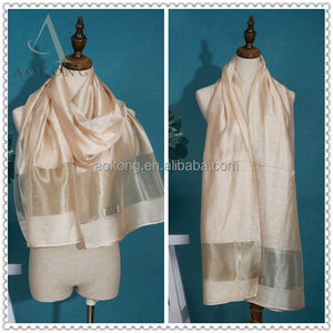 New design cream color organza scarf