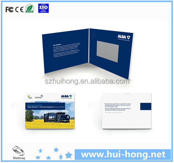 video brochure custom deisn booklet