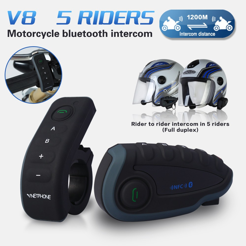 2016 New product China price best motorcycle audio system wireless unique motorcycle accessories for netphone V8