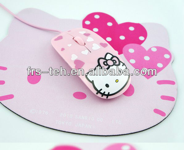 most fashion slim wired gift mouse Hello Kitty 2013 mouse