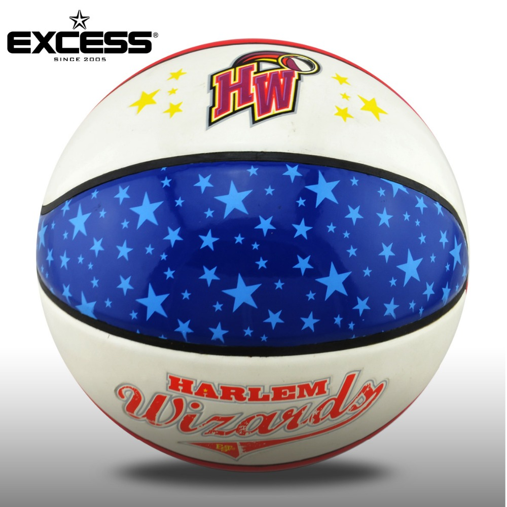 Blue Star PVC Laminated Basketball for Gift