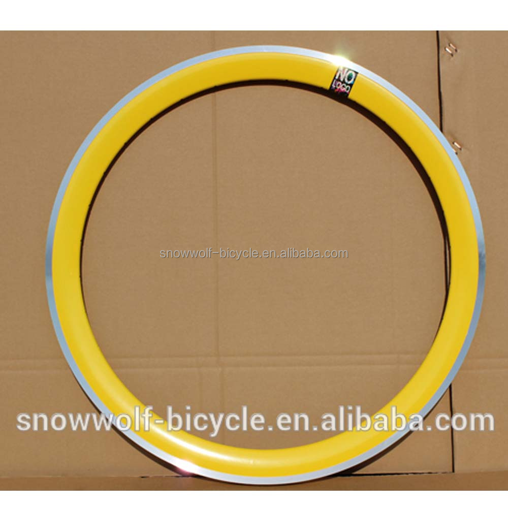 high polish shining bicycle rim cnc braking line rims 50mm