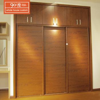 Custom Cheap Handmade 2 Door Wooden Print Melamine Wardrobe Sliding Almirah