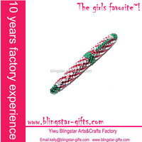 pink & green bling jewelry ball pen