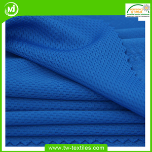 Circular Knitted Breathable 100% Polyester Honeycomb Mesh Sports Fabric For Jersey