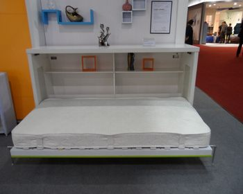 Modern Free Standing Murphy Wall Bed Wall Mounted Bed With Desk