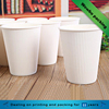 Double wall/ripple wall corrugated paper solid color cup